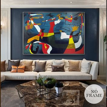 Famous Picasso Abstract Oil Painting Big Canvas Pictures Wall Art  For Living Room Aisle Home Decoration Posters And Prints HD
