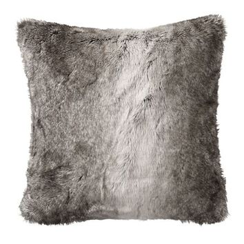 Faux Fur Pillow Cover - Gray Ombre