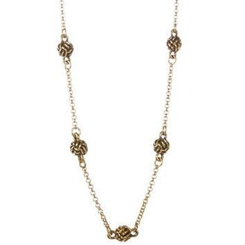 Lauren Ralph Lauren Monkey Fist Knotted Scatter Necklace