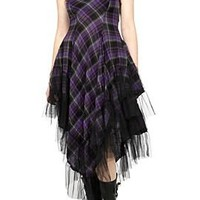 Lip Service Purple Plaid Maxi Dress - 701912