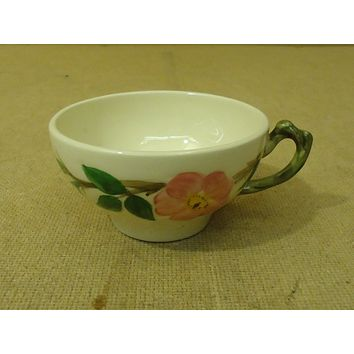 Franciscan Vintage Tea & Coffee Cup 2in H Floral Desert Rose USA Earthenware -- Used