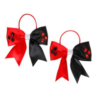 DC Comics Harley Quinn Bow Hair Tie 2 Pack