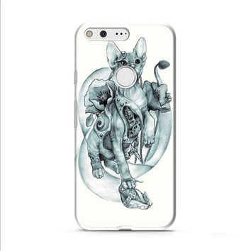 steampunk tattoo cat Google Pixel XL 2 case