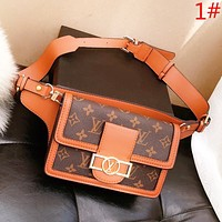 LV Louis Vuitton Fashion New Leather Shoulder Bag Leisure Women Waist Bag