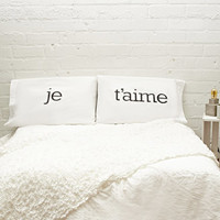 Rise and Fall Je Taime Pillowcase Set