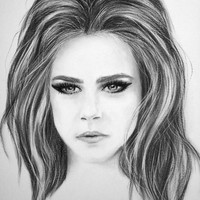 "Original Charcoal Drawing ""Fashion Firce"" Cara Delevingne"