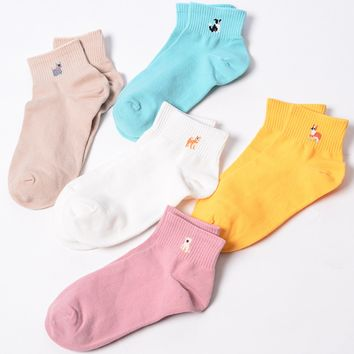 Doggie Pack Ankle Sock Set (Set of 5)