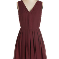ModCloth Mid-length Sleeveless A-line Berry Sangria Dress