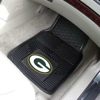 "NFL - Green Bay Packers 2-pc Vinyl Car Mats 17""x27"""