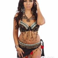 Belly Dance Tribal Bra & Belt Costume Set | Pera Tribes Jen