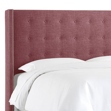 Platinum Collection by SF Designs Nail Button Tufted Wingback Headboard