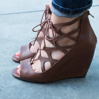 MIA Dima Lace Up Wedge Sandal