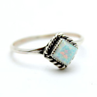 Rain Drop Navajo Opal Ring