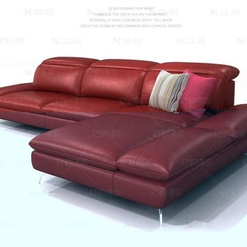 Genuine Cow Leather  Living Room Sofa Sectional Furniture