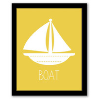 Boat Wall Art, Transportation, Toddler Decor, Nursery Art, Yellow Art, Nautical Art, Boys Room Art, Printable Wall Art, INSTANT DOWNLOAD