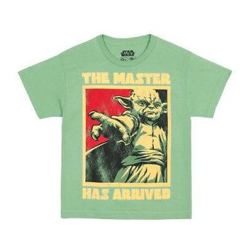 Star Wars Yoda Jedi Masters Point Licensed Kid's Youth T-Shirt - Green