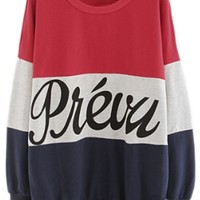 Slouchy Color Block Sweatshirt - OASAP.com