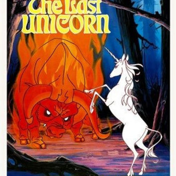 1982 animated kids fantasy THE LAST UNICORN movie POSTER 24X36 mia FARROW