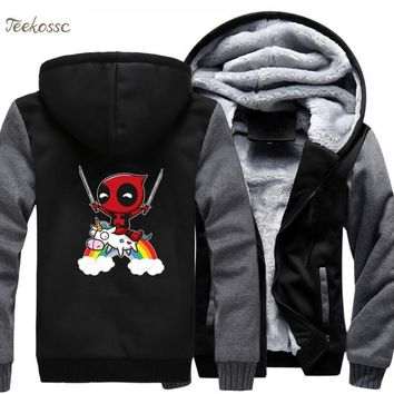 Deadpool Dead pool Taco  Hoodie Men Super Hero  Hooded Sweatshirt Coat Mens 2018 Winter Warm Thick Zipper Funny Jacket Top Quality 5XL AT_70_6