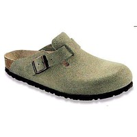 Women's Boston Clog - Narrow Footbed - Taupe Suede by Birkenstock