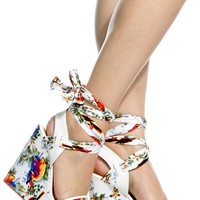 White Faux Leather Multi Print Wrap Around Wedges @ Cicihot Wedges Shoes Store:Wedge Shoes,Wedge Boots,Wedge Heels,Wedge Sandals,Dress Shoes,Summer Shoes,Spring Shoes,Prom Shoes,Women's Wedge Shoes,Wedge Platforms Shoes,floral wedges