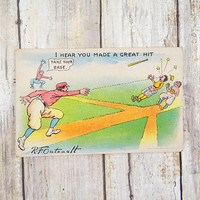 Antique R. F. Outcault Baseball Postcard from 1905