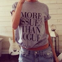 More issues than vogue grey tshirt for women tshirts shirts shirt top