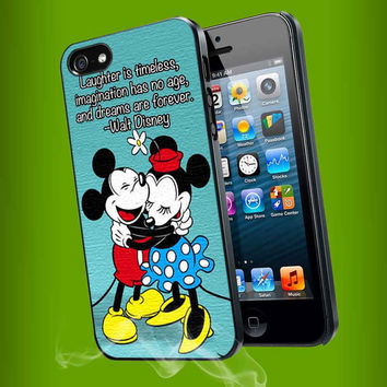 Mickey and Minne mouse falling love for iPhone 4, iPhone 4s, iPhone 5, Samsung Galaxy S3, Samsung Galaxy S4 Case