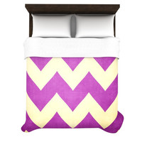 "Catherine McDonald ""Juicy"" Chevron Lightweight Duvet Cover"