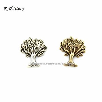 Tree of Life Floating Charm Accents for Floating Lockets -Silver Gold- Living Glass Memory Locket LFC_840