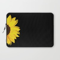 colored summer ~ sunflower black Laptop Sleeve by Steffi Louis Finds&art