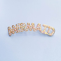 Mermaid Rhinestone Lapel Pin