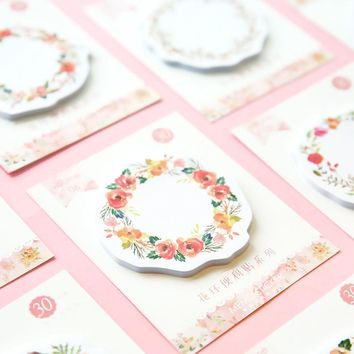 1pc Creative Wreath Memo Pad N Times Post It Sticky Notes Bookmark School Office Supply Escolar Papelaria Stationery Paper