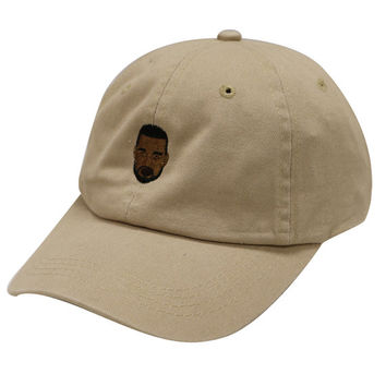 City Hunter C104 Kanye West Emoji Cotton Baseball Cap Khaki