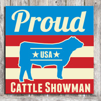 Cattle Showman Wood Sign