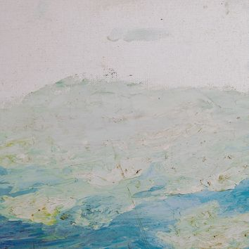 Blue & White Abstract Landscape Painting