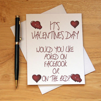 Valentines Card, Naughty Card, Sexy Card, Dirty Card, Card For Girlfriend, Card For Wife, Gift For Her, Facebook Poke, Erotic Card, Adult