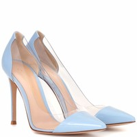 Plexi leather pumps