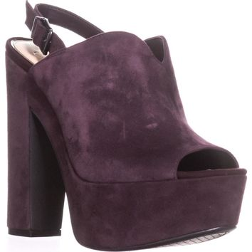 Jessica Simpson Rel Platform Dress Sandals, Burgundy, 8 US / 38 EU