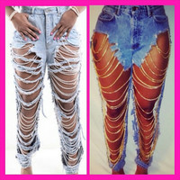 These jeans are fun and classy comes in all sizes and can be worn multiple ways