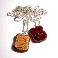 Peanut Butter And Jelly Polymer Clay Bestfriend by adcdmc on Etsy