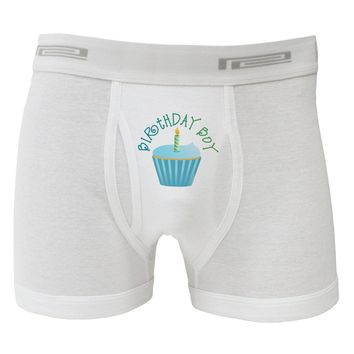 Birthday Boy - Candle Cupcake Boxer Briefs  by TooLoud