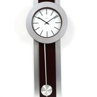 Contemporary Quartz Wall Clock Home Decor Battery Operated With Moving Pendulum