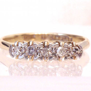 Platinum Diamond 18K Yellow Gold Engagement Ring