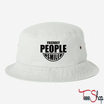 Friendly People SMILE bucket hat