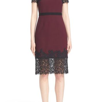 Erdem 'Keni' Lace Trim Shift Dress | Nordstrom