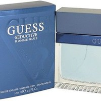 Guess Seductive Homme Blue Cologne Men Perfume Eau De Toilette Spray 3.4 oz 100