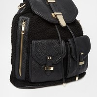 ALDO Dundas Faux Fur Backpack
