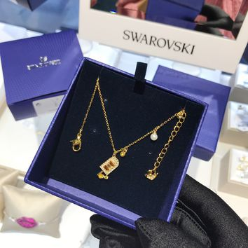 DCCK 1545 Swarovski NO REGRETS Ice Hockey Interesting Jump off the Beautiful Charming Lady's Necklace