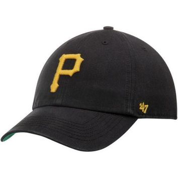 47 Pittsburgh Pirates Black Home Franchise Fitted Dad Hat
